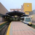 La estación de FEVE de Cartagena.