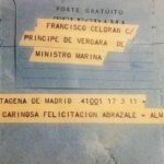 Francisco Celdrán Conesa tenía estrechos lazos de amistad con relevantes personajes como el Ministro de Marina, Nieto Antúnez. En la imagen, telegrama de felicitación por su onomástica en agosto de 1968.