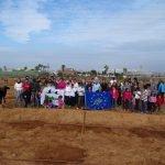 Imagen de los voluntarios que han participado en la creación de un nuevo bosque de tetraclina en Calblanque.