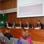 Momento de la presentación de las partidas destinadas al Mar Menor ante representantes de la COEC y Cámara de Comercio.