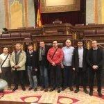 El diputado de Unidos Podemos recibió en el Congreso de Diputados a una representación de los trabajadores del aeropuerto de San Javier.