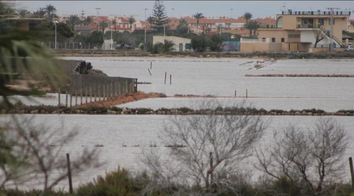 A pesar de la imagen engañosa que puedan dar las Salinas de Marchamalo tras las últimas inundaciones es una de las lagunas costeras totalmente abandonadas en la actualidad