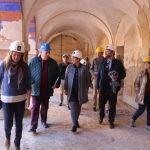 Ayer visitaron el Monasterio representantes políticos de la Comunidad para conocer la evolución de las obras.