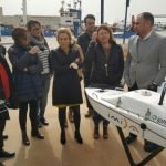Imagen de uno de los drones presentados ayer que permitirá recoger información más detallada del Mar Menor.