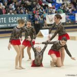 Las gimnastas de La Manga protagonizaron una destacada actuación que les mereció la segunda posición en categoría Alevín.